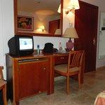 Scrittorio della camera dell'hotel