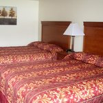 Motel room with 2 queen beds
