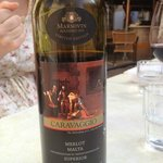 The local Caravaggio Superior Merlot 2011 wine