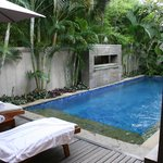 Private pool inside the villa