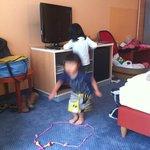 子供が遊ぶことができるくらいゆったりしていました