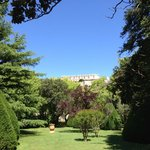View from garden to Chateau de Grignan