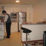cocina en el apartamento