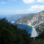 Myrtos beach on way to Fiskardo