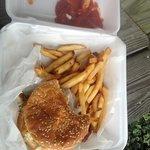 Fish Sandwich w/ Fries & Slaw