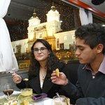 Cena degustación en el City tour de Casa 1028 Quito-Ecuador