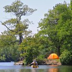 Campsites are perched on knolls overlooking the complex of bays and islands.