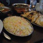 Basmati Rice and Garlic Naan
