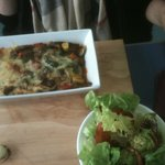 lasagne de legume et sa salade fraicheur