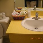 clean modern bathroom with excellent amenities..