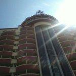 Beautiful sunshine shown on the Hotel