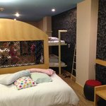 very spacious even with bunk beds pulled down for sleeping