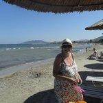 Janet aan het strand 19-6-13