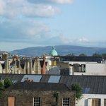 Our view over Dublin towards the mountains