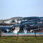 4 water slides.