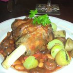 My excellent Lamb Shank dinner..very large and tender. £14