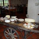 Le chariot de fromages de la ferme