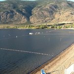 Osoyoos Lake from balcony of our room at the Coast.