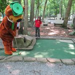 Yogi Playing Mini Golf