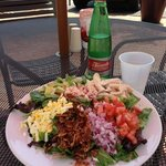Tasty Cobb Salad. Large enough to share.