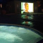 hot tub & a movie