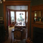 View of dining room from the parlor.