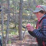 Paula Guide for Walks & Talks Jasper shows squirrell habitat