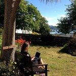 Miriam's romantic wifi spot in the garden