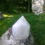one. of the. gorgeous. stones at. Columcille. park. i got to touch today!  stunning
