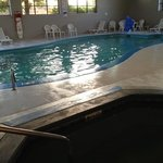 pool area. The water didn't look clean and there was stuff floating on the surface.
