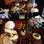 combo ab beef teriyaki and tempura