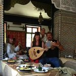 Lunch and music in Morocco