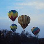 Flying the balloon in Cambridge, New York