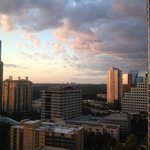 View of Buckhead at sunset with downtown Atlanta in the background