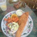 Fried halibut