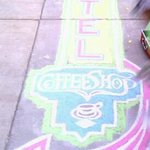 chalk art outside was welcoming:)