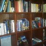 English & Spanish books hotel library