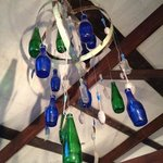 Home made mobiles add to the atmosphere