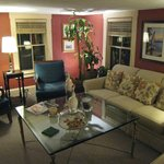 Main sitting room. Great place to meet other guests.