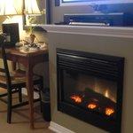 nice fireplace....