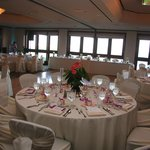 Boardroom wedding reception