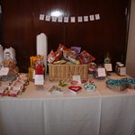 Snack table, sweets and snacks