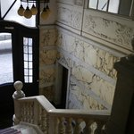 Grand marble staircase and entryway