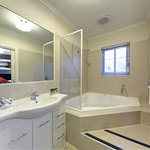 Massive bathrooms in the 2 bedroom apartments, with or without spa