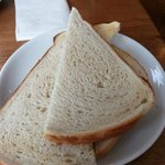 Hollands Cafe Consiton, undercooked toast