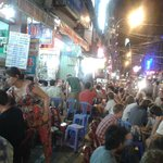 The stree is full of fun and cheap beer