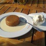 Malva pudding with ice cream