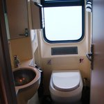 Toilet on train
