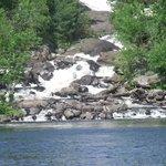 ragged falls on oxtongue lake