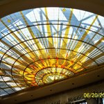 "Stained glass skylight ""Universe"" in Council Chambers"